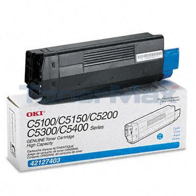 OKIDATA C5100N C5300N TONER CYAN 5K